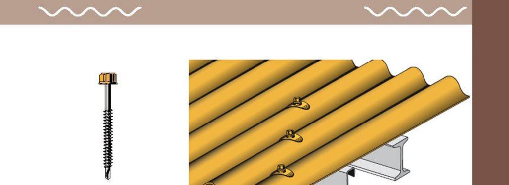 TPG vous fournit les fixations adéquates pour vos tôles de toitures et de bardages