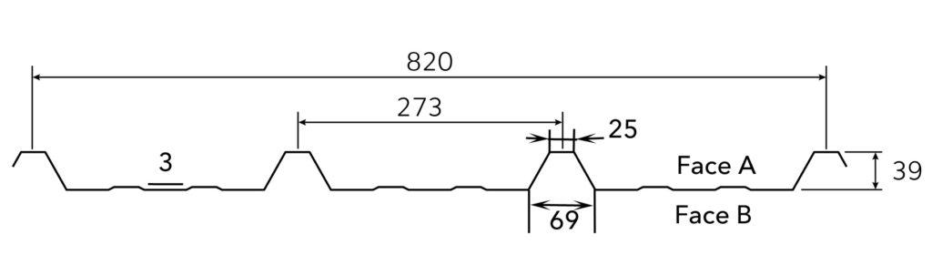 Profil nervuré A ou B pour la tôle de bardage TPG
